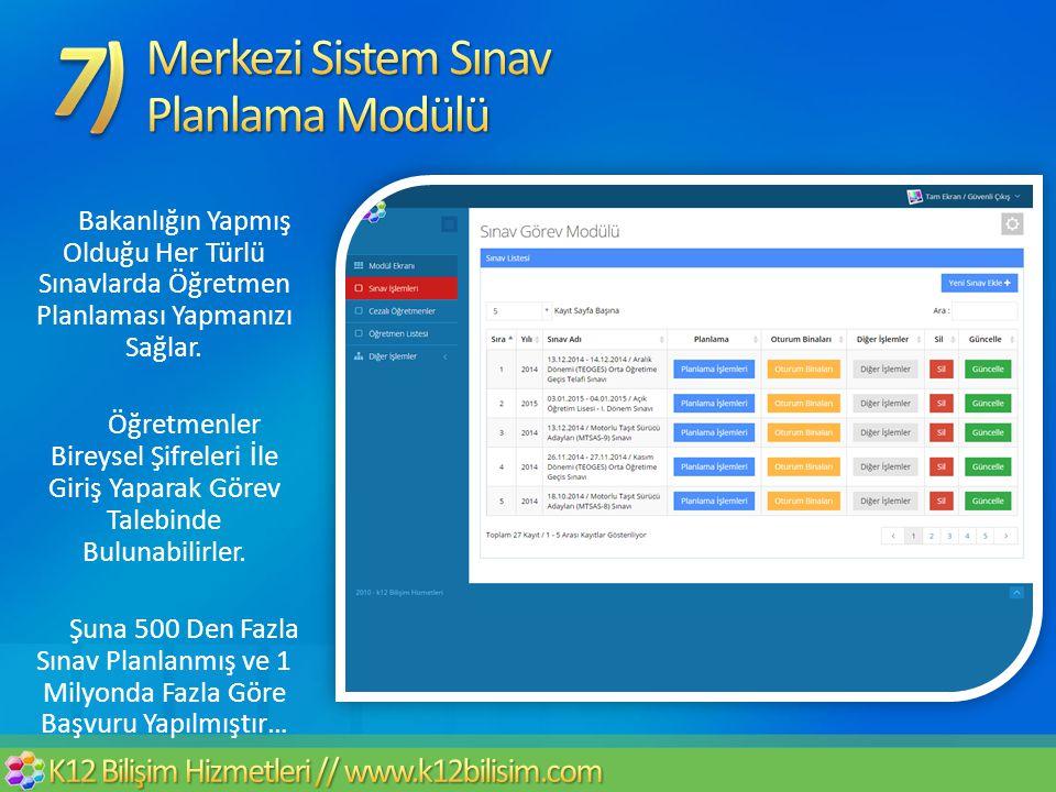 Merkezi Sistem Sınav Planlama Modülü