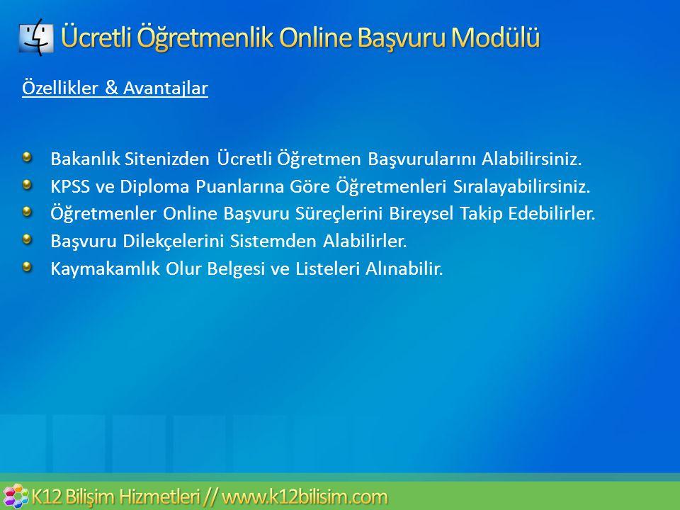 Ücretli Öğretmenlik Online Başvuru Modülü