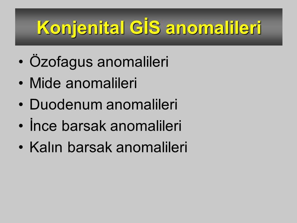 Konjenital GİS anomalileri