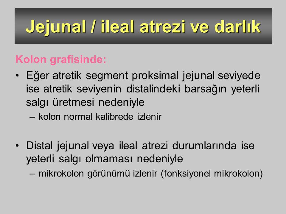Jejunal / ileal atrezi ve darlık