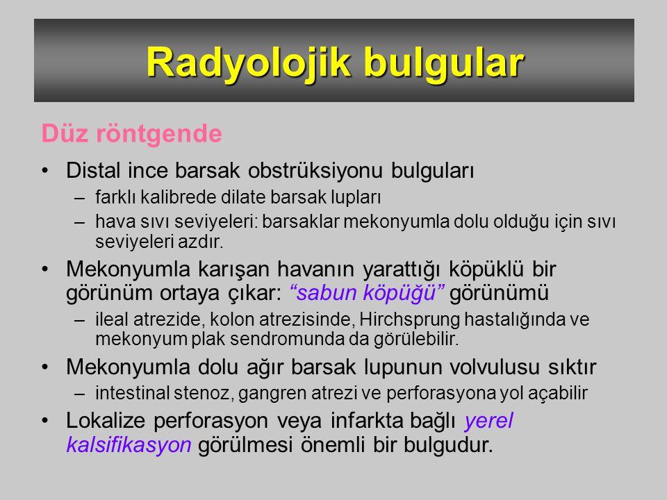 Radyolojik bulgular Düz röntgende