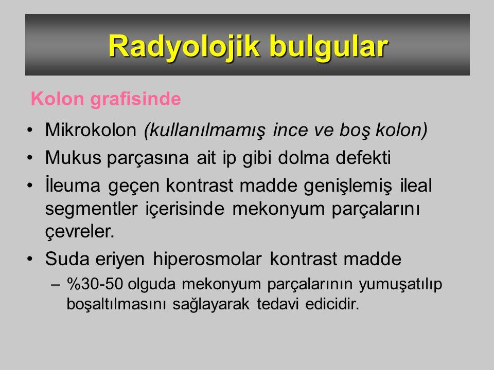 Radyolojik bulgular Kolon grafisinde