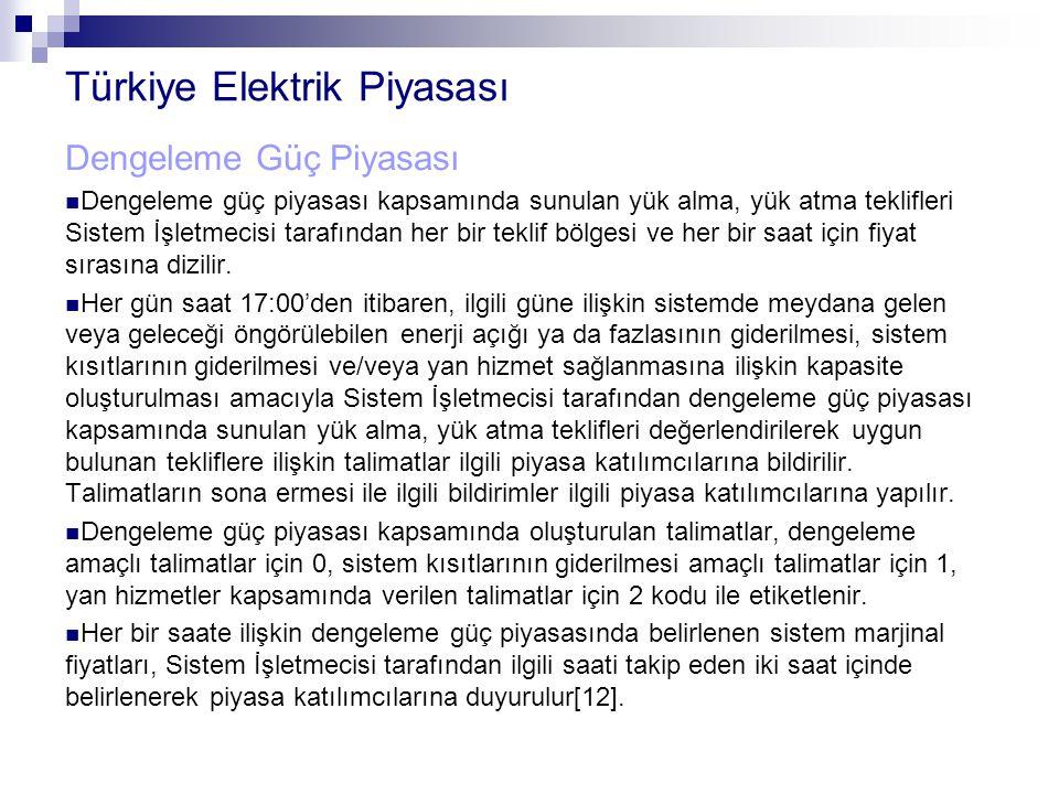 Türkiye Elektrik Piyasası