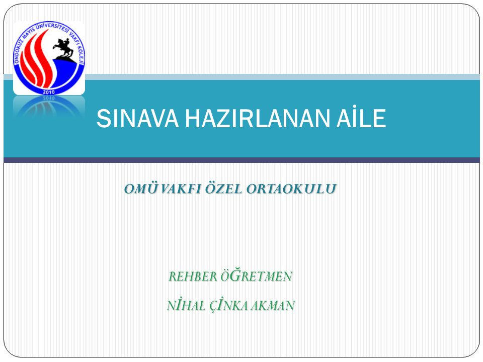 SINAVA HAZIRLANAN AİLE