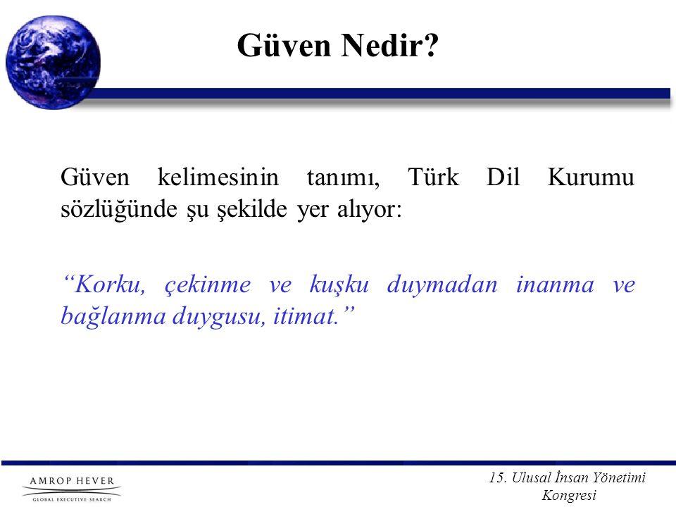 Güven Nedir Güven kelimesinin tanımı, Türk Dil Kurumu sözlüğünde şu şekilde yer alıyor: