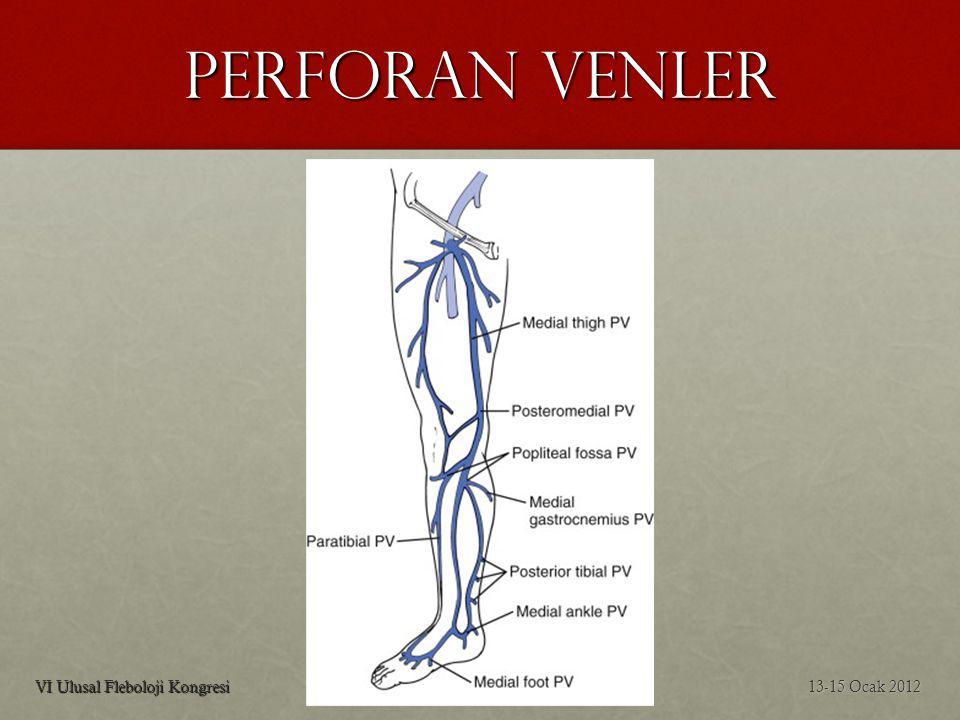 PERFORAN VENLER VI Ulusal Fleboloji Kongresi 13-15 Ocak 2012