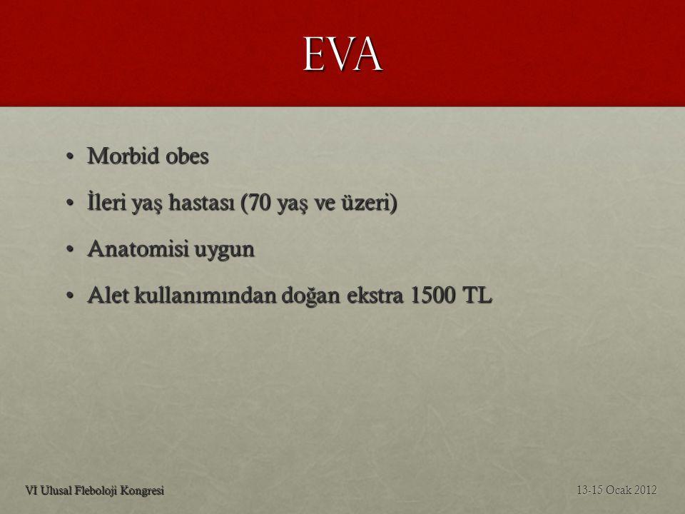 EVA Morbid obes İleri yaş hastası (70 yaş ve üzeri) Anatomisi uygun