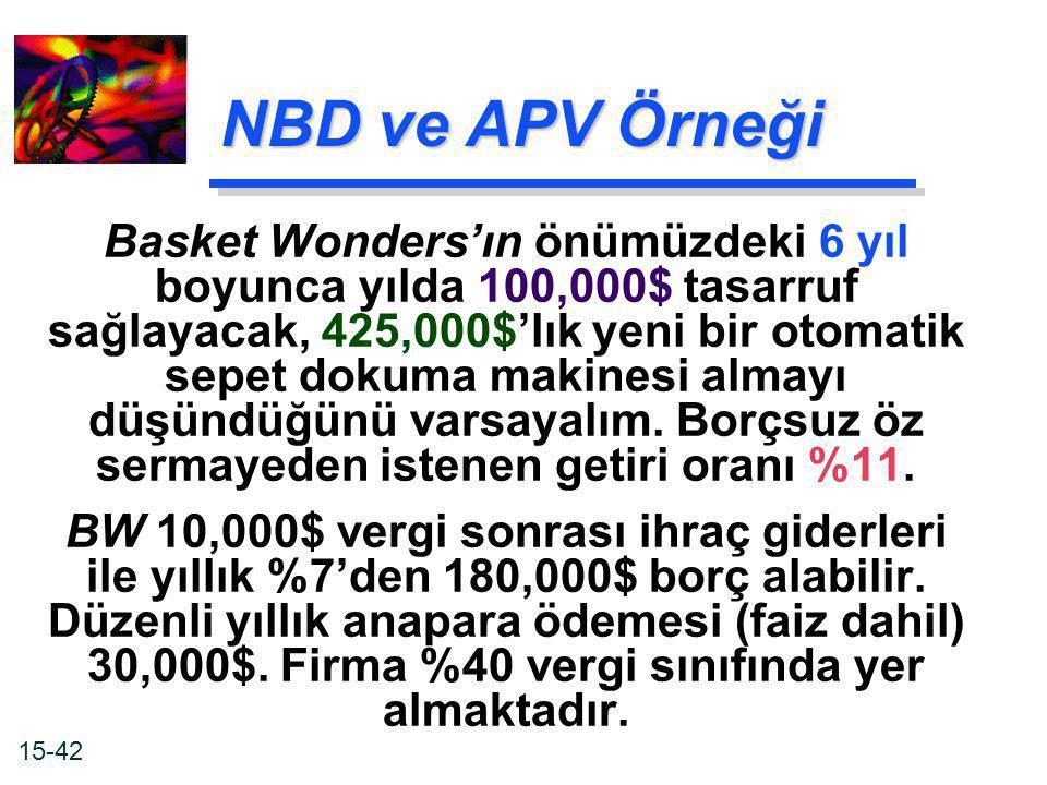 NBD ve APV Örneği
