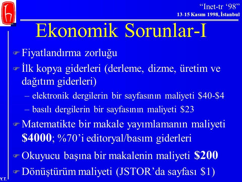 Ekonomik Sorunlar-I Fiyatlandırma zorluğu