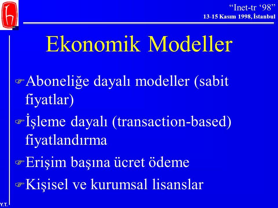 Ekonomik Modeller Aboneliğe dayalı modeller (sabit fiyatlar)