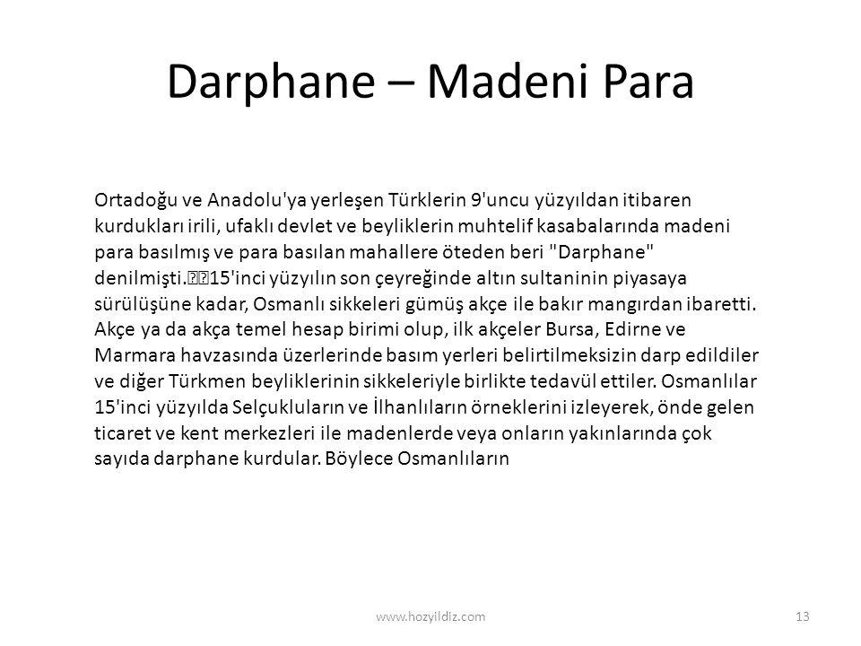 Darphane – Madeni Para