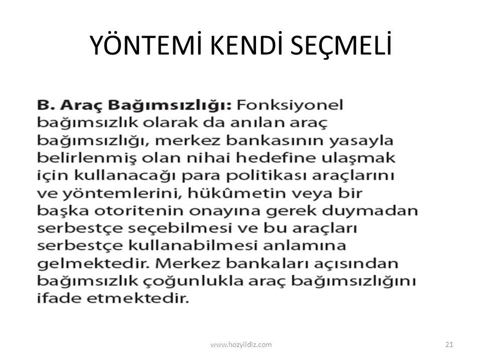 YÖNTEMİ KENDİ SEÇMELİ www.hozyildiz.com