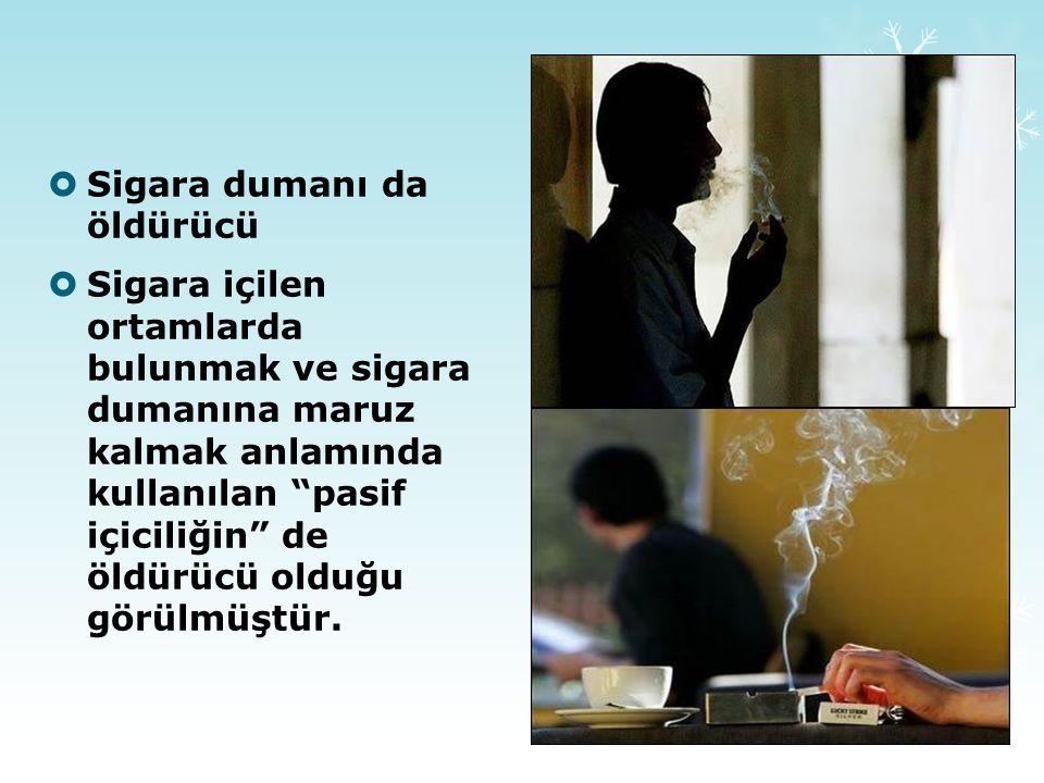 Sigara dumanı da öldürücü