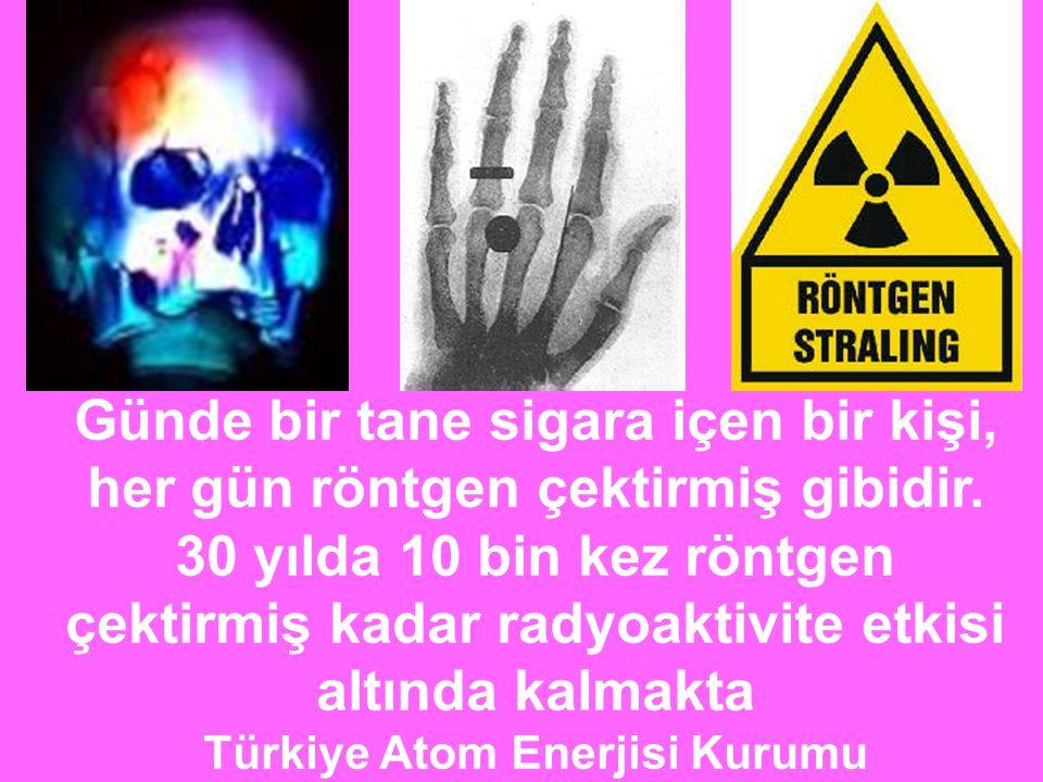 çektirmiş kadar radyoaktivite etkisi altında kalmakta