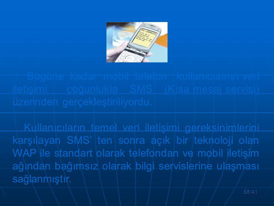 Bugüne kadar mobil telefon kullanıcısının veri iletişimi çoğunlukla SMS (Kısa mesaj servisi) üzerinden gerçekleştiriliyordu.