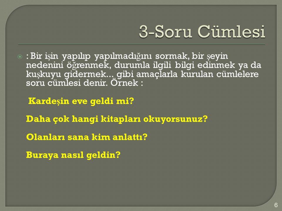 3-Soru Cümlesi