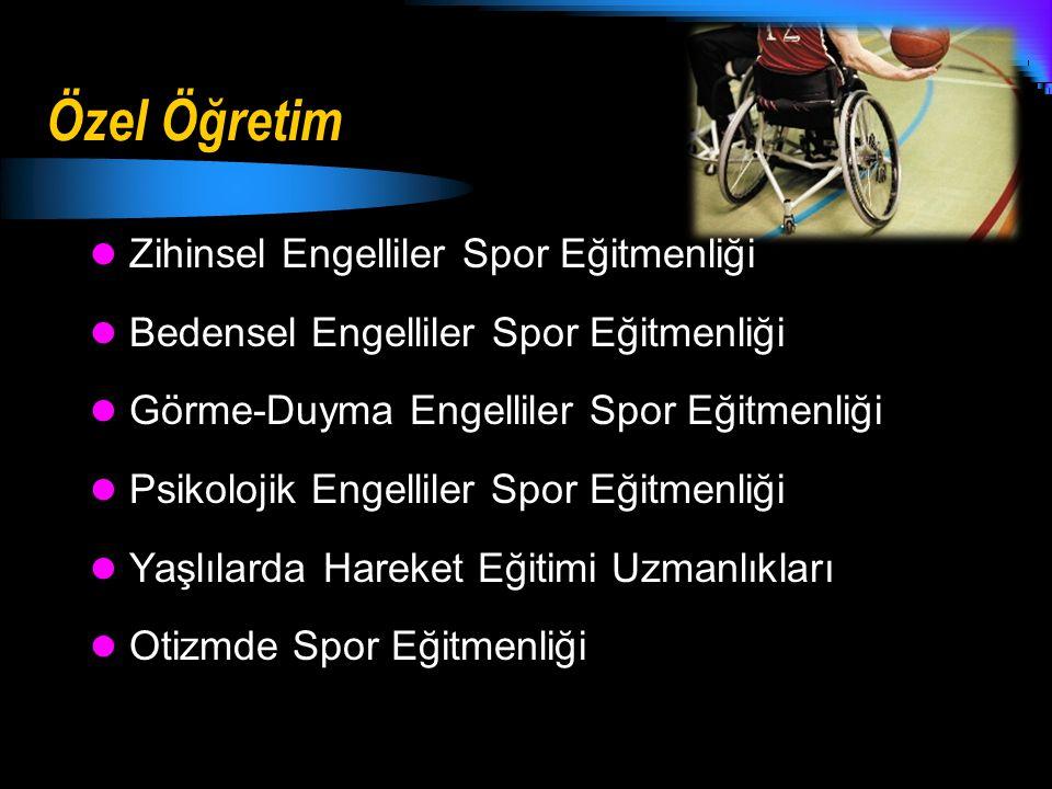 Özel Öğretim Zihinsel Engelliler Spor Eğitmenliği