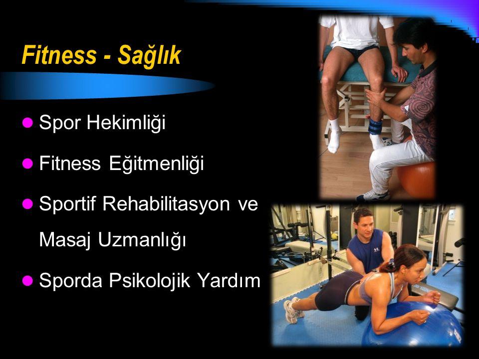 Fitness - Sağlık Spor Hekimliği Fitness Eğitmenliği