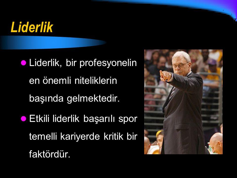 Liderlik Liderlik, bir profesyonelin en önemli niteliklerin başında gelmektedir.