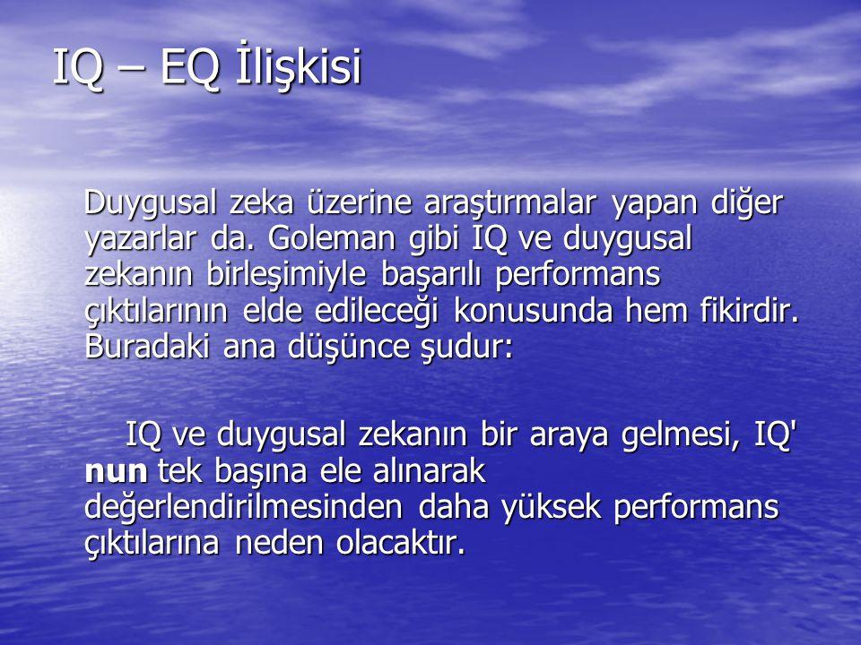 IQ – EQ İlişkisi