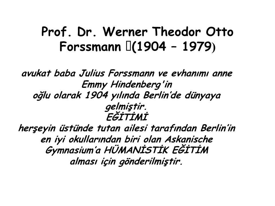 Prof. Dr. Werner Theodor Otto Forssmann (1904 – 1979)