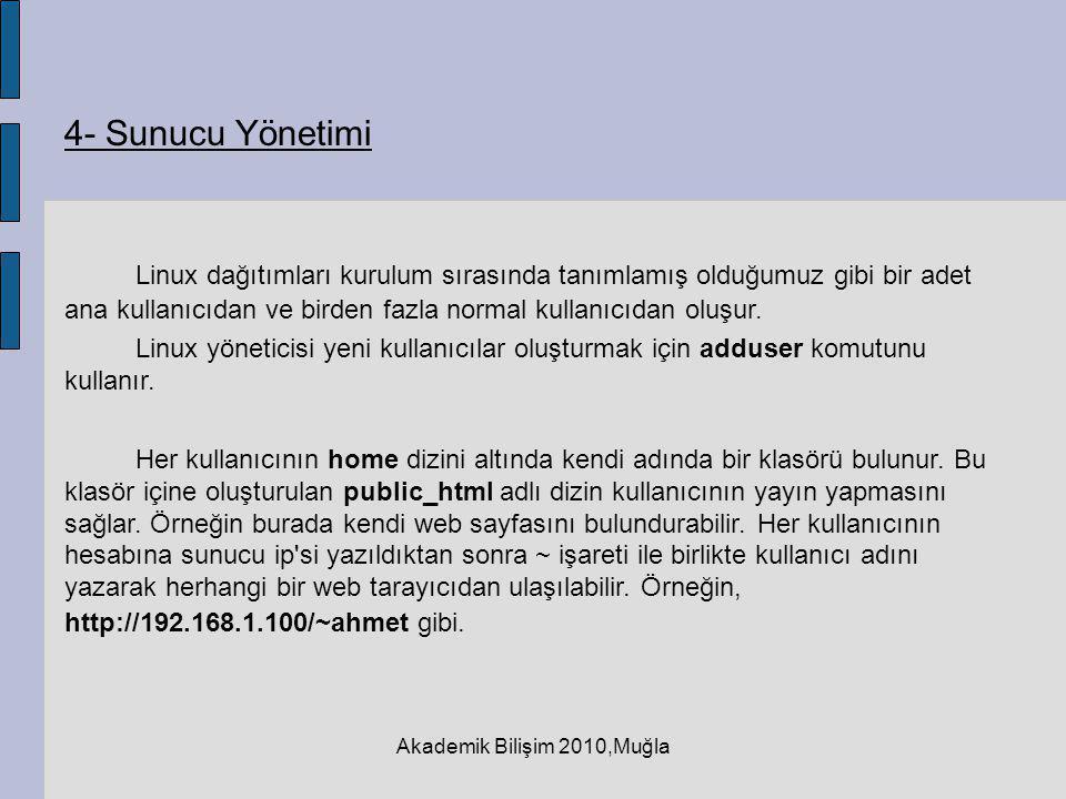 Akademik Bilişim 2010,Muğla