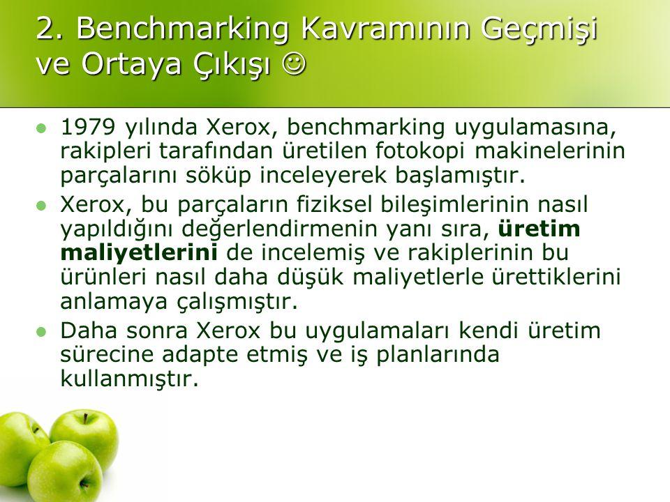 2. Benchmarking Kavramının Geçmişi ve Ortaya Çıkışı 