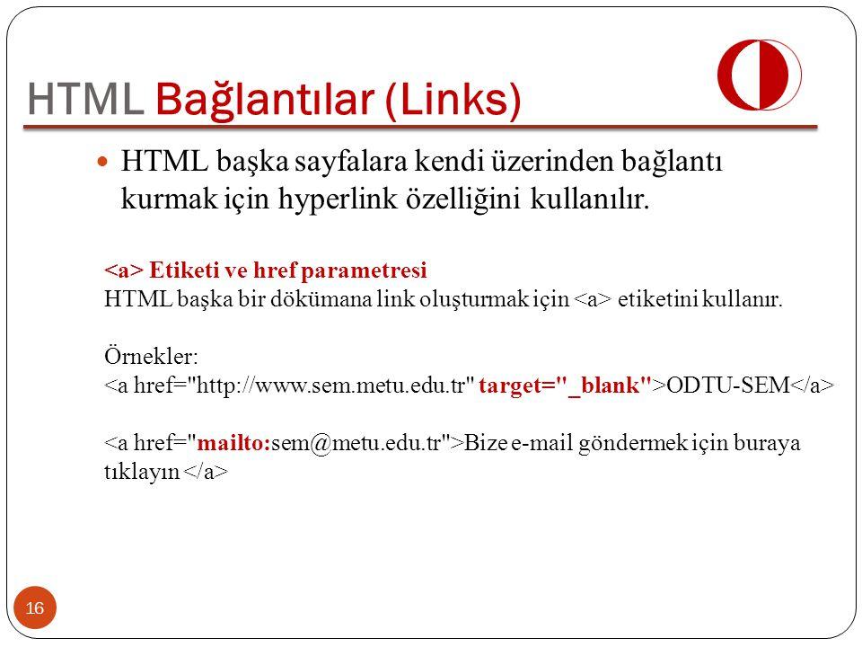 HTML Bağlantılar (Links)