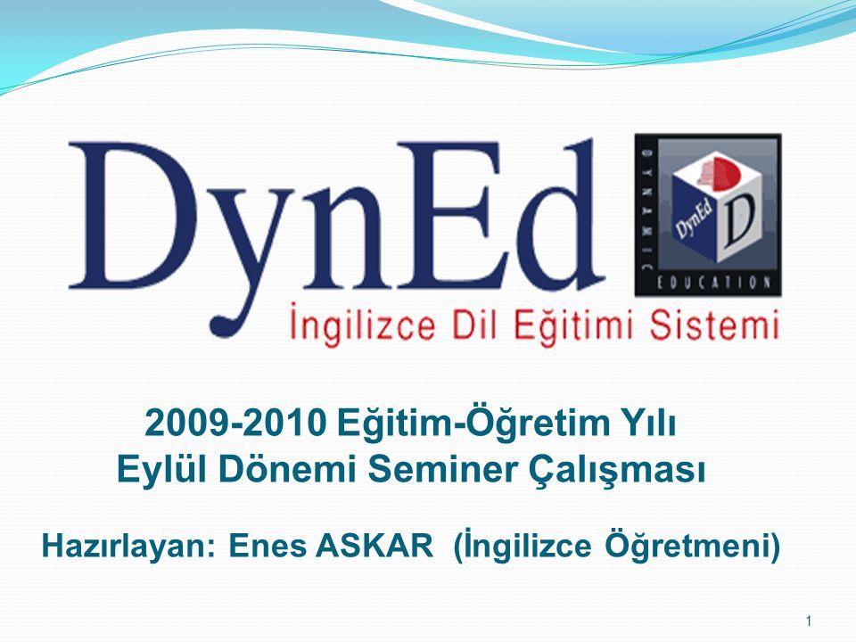 2009-2010 Eğitim-Öğretim Yılı Eylül Dönemi Seminer Çalışması