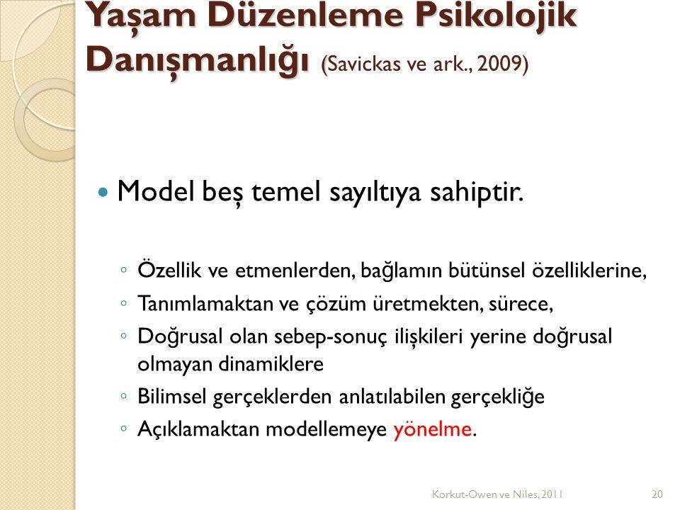 Yaşam Düzenleme Psikolojik Danışmanlığı (Savickas ve ark., 2009)
