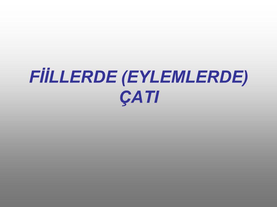FİİLLERDE (EYLEMLERDE) ÇATI