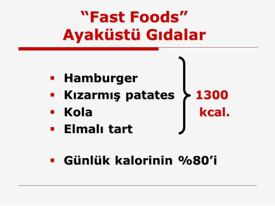 Fast Foods Ayaküstü Gıdalar