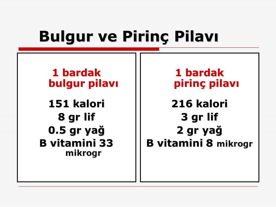 Bulgur ve Pirinç Pilavı