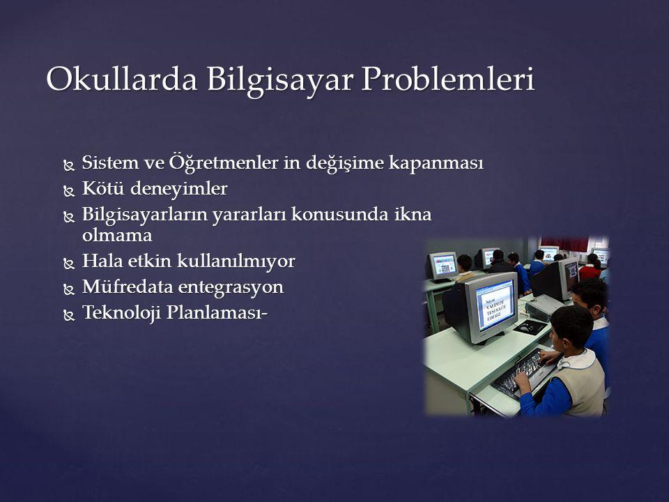 Okullarda Bilgisayar Problemleri