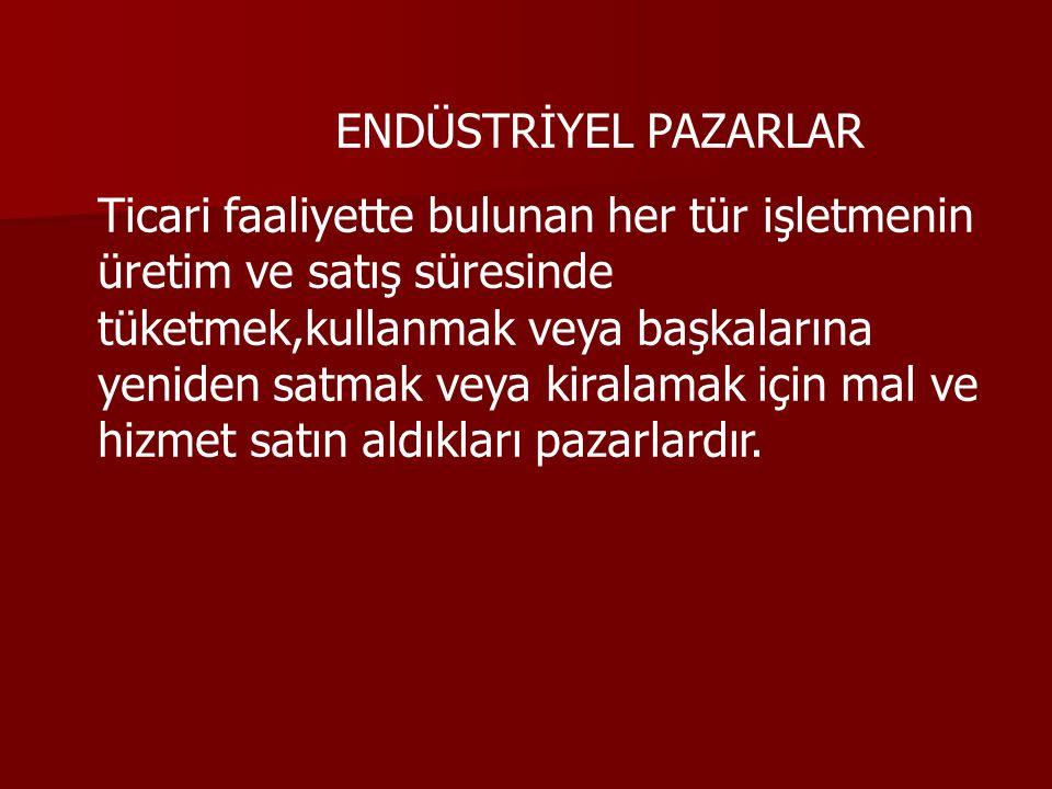 ENDÜSTRİYEL PAZARLAR