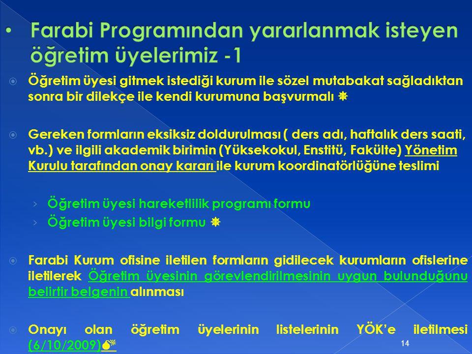 Farabi Programından yararlanmak isteyen öğretim üyelerimiz -1