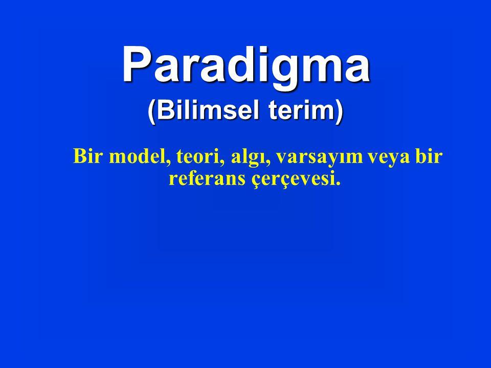 Bir model, teori, algı, varsayım veya bir referans çerçevesi.