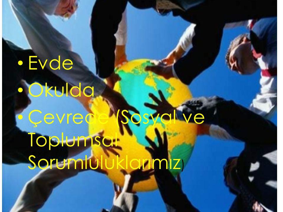 Çevrede (Sosyal ve Toplumsal Sorumluluklarımız)