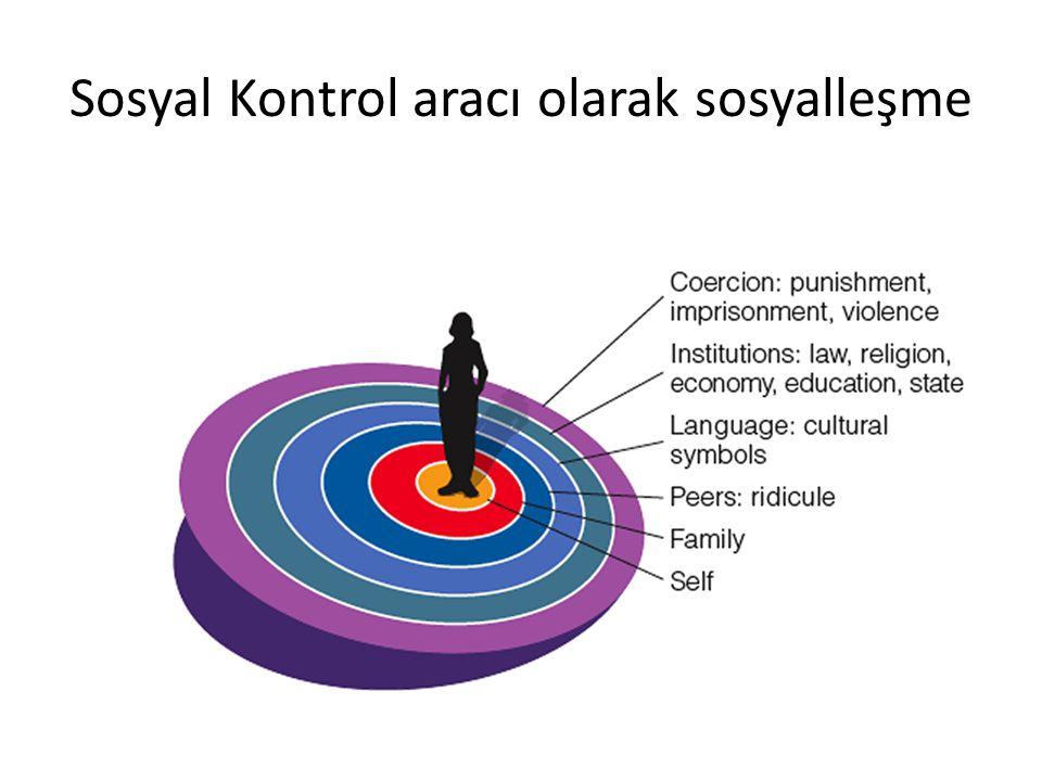 Sosyal Kontrol aracı olarak sosyalleşme