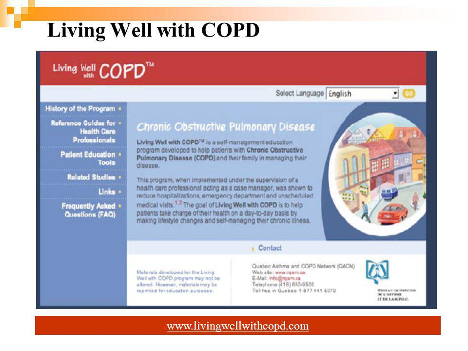 Living Well with COPD www.livingwellwithcopd.com