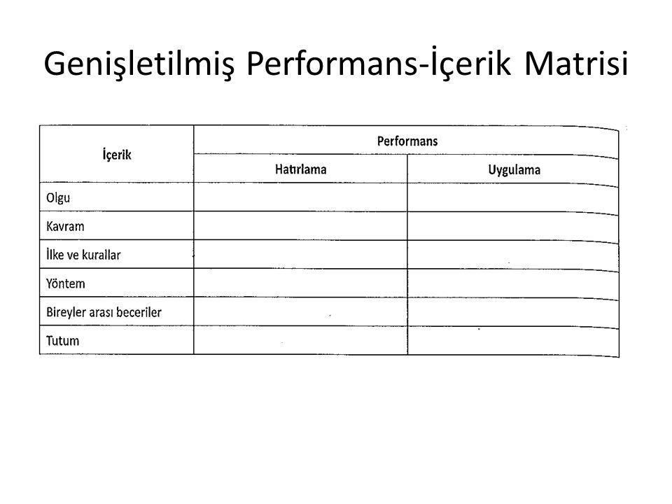 Genişletilmiş Performans-İçerik Matrisi