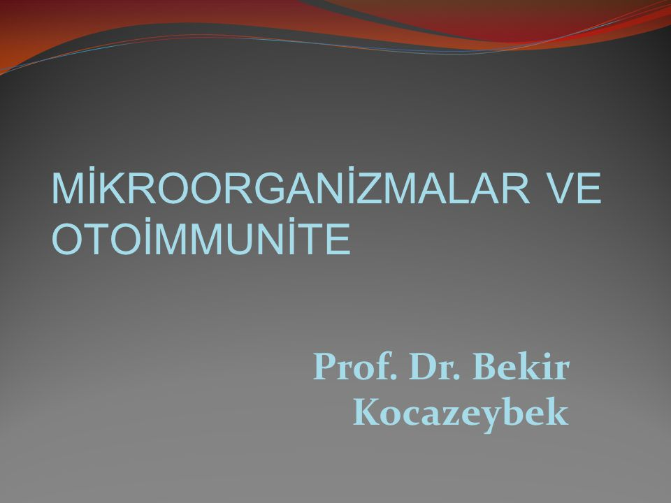 MİKROORGANİZMALAR VE OTOİMMUNİTE