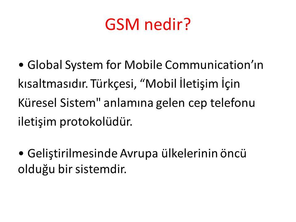 GSM nedir