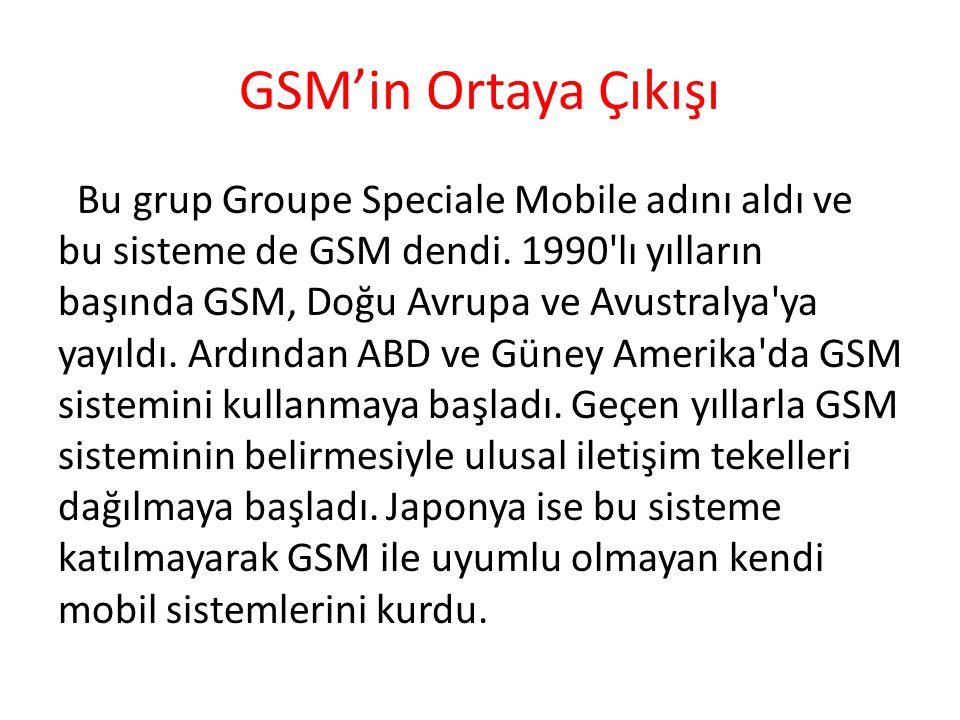 GSM'in Ortaya Çıkışı