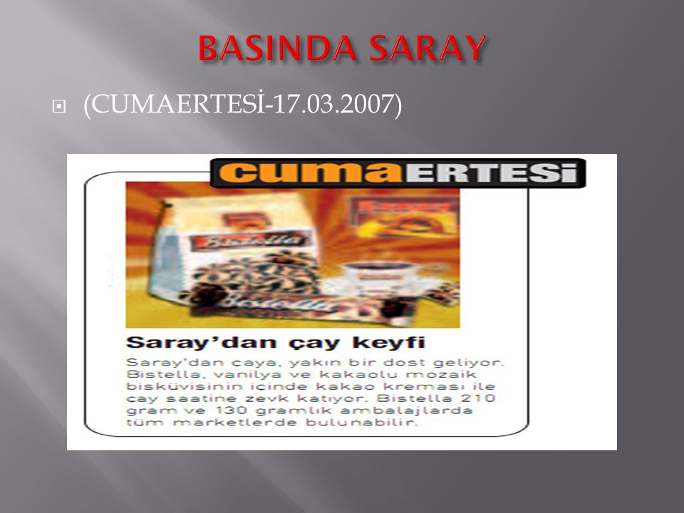 BASINDA SARAY (CUMAERTESİ-17.03.2007)