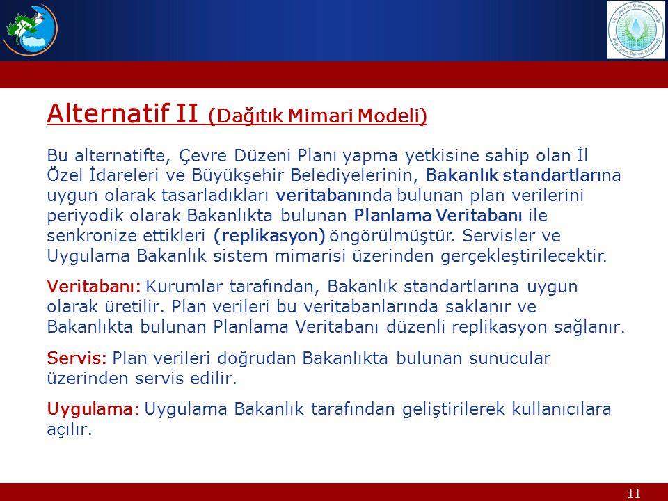 Alternatif II (Dağıtık Mimari Modeli)