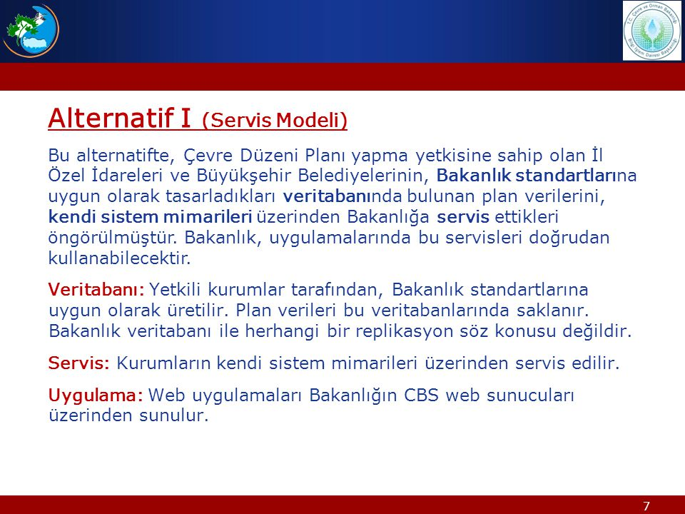 Alternatif I (Servis Modeli)