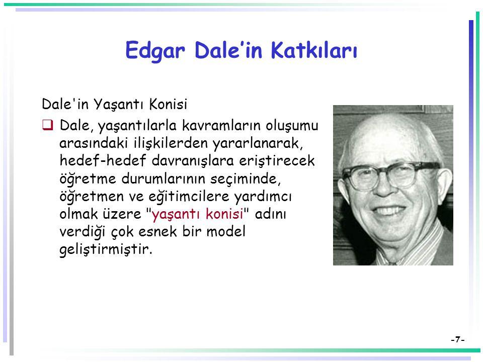 Edgar Dale'in Katkıları