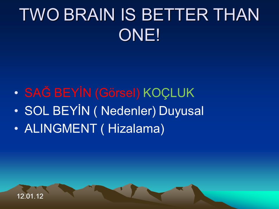 TWO BRAIN IS BETTER THAN ONE!
