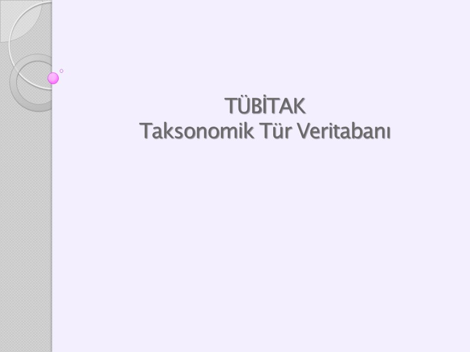 TÜBİTAK Taksonomik Tür Veritabanı